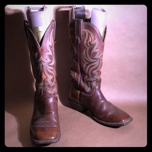 JUSTIN Square Toe Western Cowboy CowGirl Boots